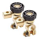 SurePromise Kfz-Batterie-Trennschalter, Trennschalter, 6 V, 12 V, 24 V, für Motorrad, Van, Boot, 2...