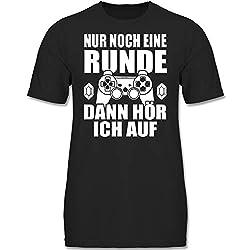 Sprüche Kind - Nur noch eine Runde - 164 (14/15 Jahre) - Schwarz - F130K - Kinder Tshirts und T-Shirt für Jungen