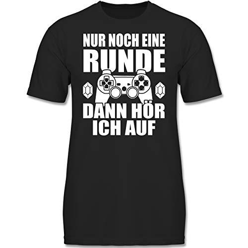 Sprüche Kind - Nur noch eine Runde - 164 (14/15 Jahre) - Schwarz - F130K - Jungen Kinder T-Shirt