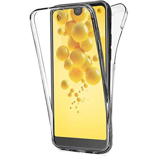 Buyus Schutzhülle aus Gel für Wiko View 2, 360 Degres Integral Anti Choc, ultradünn, transparent