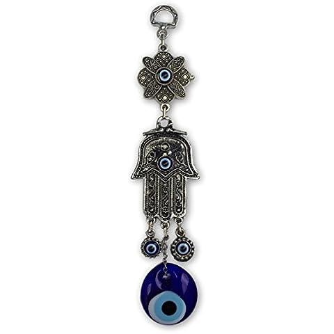 Mal de ojo Fátima mano Colgante de pared turco tradicional buena suerte amuleto Talisman