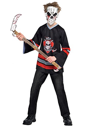 Jungen Jason Stil blutigen Gesicht aus Kostüm Teen (14-16 (Blutiges Kostüm Gesicht)