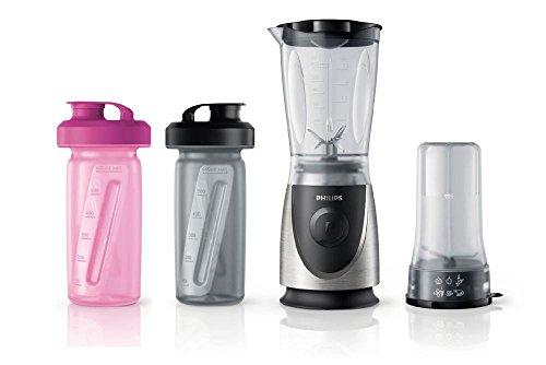 Philips HR2877/08 - Licuadora (0,6 L, Batidora de vaso, Negro, Metálico, De plástico, Cromo, Acero inoxidable)