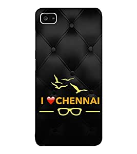 EPICCASE I love chennai Mobile Back Case Cover For Lenovo ZUK Z2 (Designer Case)