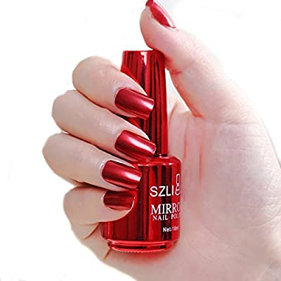 Xshuai® 18ML Metallic Nail Polish Magic Mirror Effect Chrome Nail Art Polish Varnish Health Nontoxic Nail Oil For Teens Women 18Color