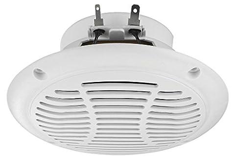 Monacor Weatherproof Flush Mount Speaker - White (30 WMAX, 15 WRMS, 4 Ohm)