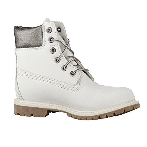 Timberland Unisex Adults  6  in Premium Boot Bki Classic  White  Rainy Day Waterbuck Gunmetal   6 5 UK 39 5 EU