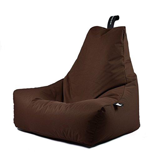 B-Bag MIGHTY Sitzsack Sitzkissen Liegekissen Gamersessel In- und Outdoor in Farbe braun