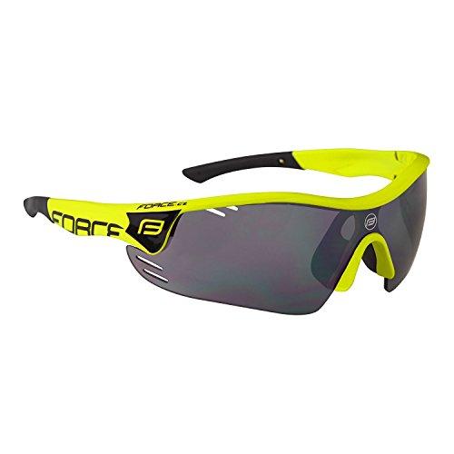 Force Profi Radsportbrille Race Pro, Fahrradbrille, (Neon-schwarz)