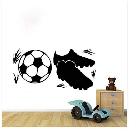 jqpwan Scarpe da ginnastica e calcio Wall Sticker per bambini Camere rimovibile carta da parati autoadesiva 58 * 116Cm