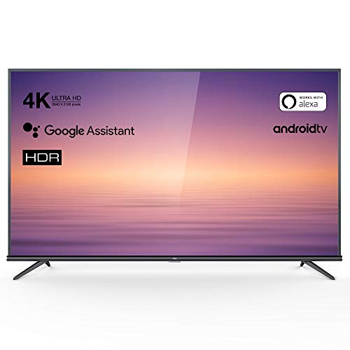 TCL 60EP660 Fernseher 150 cm (60 Zoll) Smart TV (4K UHD, HDR10, Android TV, Micro Dimming Pro, Alexa kompatibel, Google Assistant, Chromecast) Brushed Titanium (Smart 60 Tv)