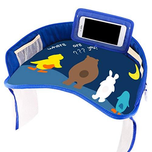 liaobeiotry Auto-Sicherheits-Sitz-Teller, Multifunktionsbaby, das Zeichentisch-wasserdichte Baby-Karikatur-Tabelle mit örtlich festgelegtem Bügel speist -