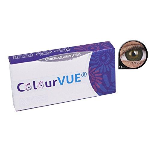 ColourVUE Awesome Black Monatslinsen weich, 1 Stück / BC 8.6 mm / DIA 15.0 / 0 ()