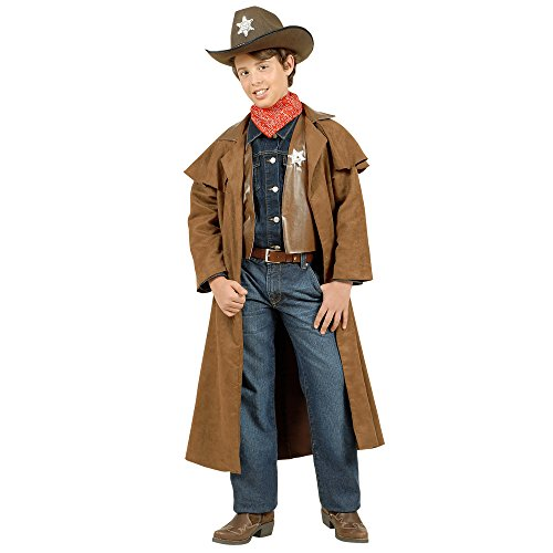 WIDMANN WDM57387 - Costume Per Bambini Cowboy Scamosciati (140 cm/8-10 Anni), Marrone, XS