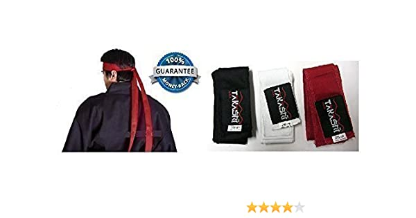 KENDO Tenugui Samurai Warrior HeadBand 200cm 100/% Cotton Ninja Headband BLACK