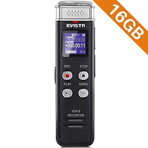 EVISTR 16gb digitaler Diktiergerät Diktiergerät mit der wiedergabe kleinen tape recorder upgraded 16 gigabyte originalfassung