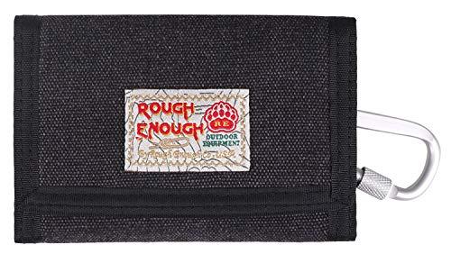 Rough Enough Leinwand Geldbörse Klein Herren Männer Damen Kartengeldbörse Geschenk für Männer Geschenke für Die Mädchen Kinder Junge Jungen Teenager Brieftasche Reisen Canvas Slim Wallet for Men Kids -