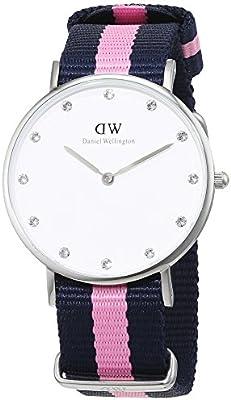 Daniel Wellington 0962DW - Reloj con correa de acero para mujer, color blanco / gris
