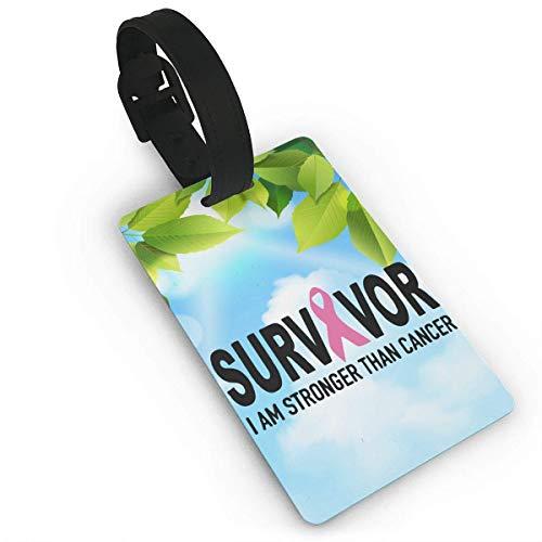or Pink Ribbon Luggage Tag Travel ID Bag Tag ()