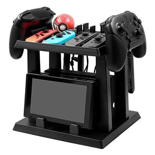 EXTSUD Aufbewahrung Ständer für Nintendo Switch, Multifunktionale Halter Ständer für Nintend Switch Disks Konsole Host Pokeball Controller Zubehör MEHRWEG