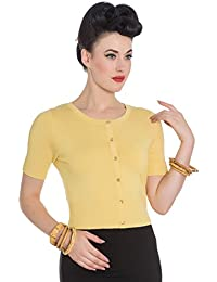 Hell Bunny Wendi 50s Style Short Sleeve Cropped Cardigan