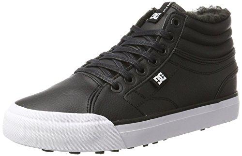 DC Shoes Evan Hi WNT, Scarpe da Ginnastica Basse Donna, Nero White/Black, 40 EU