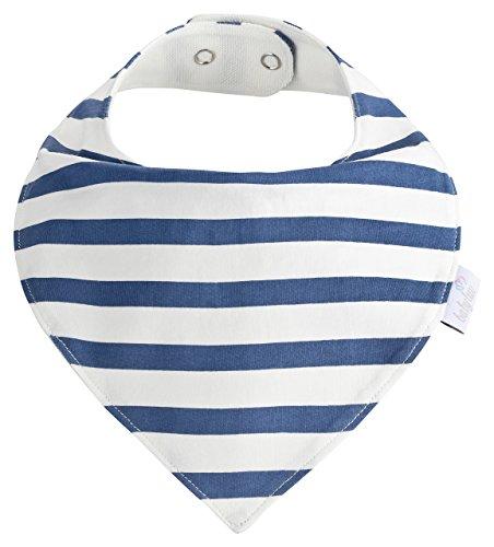 Baby-Lätzchen Set für Jungs 5 Stück, Dreieckstuch aus Baumwolle in den Farben Blau, Hellblau und Weiß,Wasserdicht - Halstuch - Spucktuch - Sabberlätzchen - 2