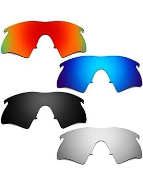 Hkuco Plus Mens Replacement Lenses For Oakley M Frame Heater Red/Blue/Black/Titanium Sunglasses