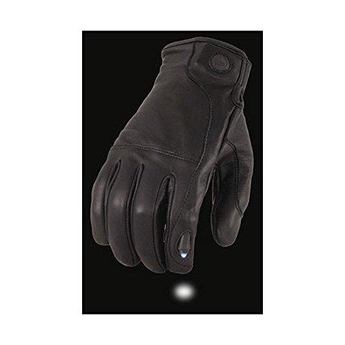 Brandneu Herren Damen Sommer Leder Motorrad Motorrad Handschuhe Kuh Leder Touchscreen-LED (Medium) (Damen Leder Handschuh Touchscreen)