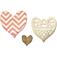 Scrappy Cat Sizzix Thinlits - Set di 4 fustelle a forma di cuore, colore: Multicolore