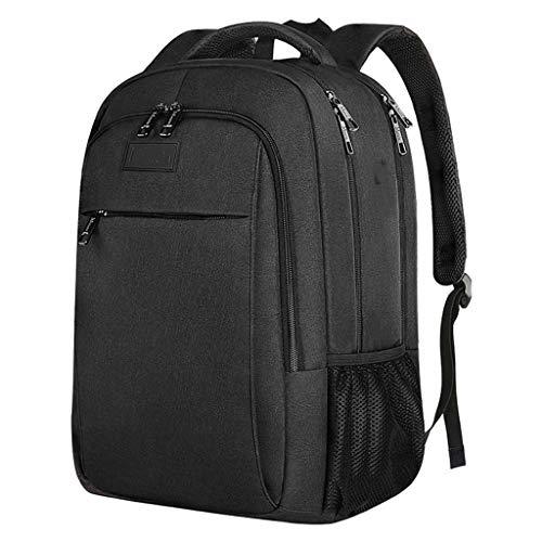 WJQSD Rucksack Männer Und Frauen 15,6-Zoll-Laptop-Tasche, Reiserucksack, Professionelle Business-Rucksack-Tasche, Mit USB-Ladeanschluss, Laptoptasche, Wasserfester Schulrucksack Für Sport, Camping, Ge - Ge Kleidung