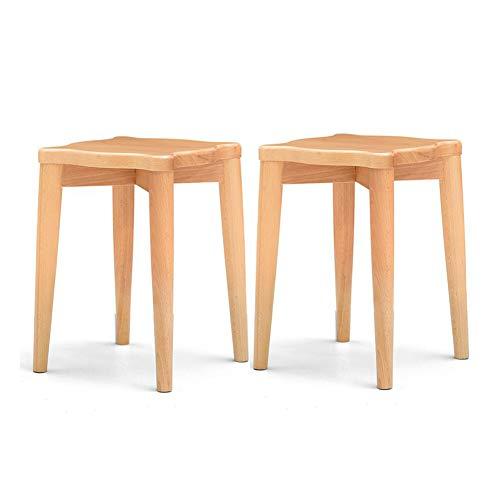 WYYY Bürostuhl Massivholz Quadratischer Hocker Antike Kastanie Pack-2 Sattelhocker Zuhause Küche Durable stark (Farbe : T1) -