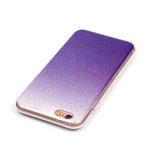 iPhone 6 Plus Case,iPhone 6S Plus Hülle - Felfy Apple iPhone 6 Plus/6S Plus 5.5 Zoll Ultra Slim Ultradünn Case Soft Gel Flexibel TPU Silikonhülle mit Bling Sternchen Gradient Farbe Design Protective S Lila Case