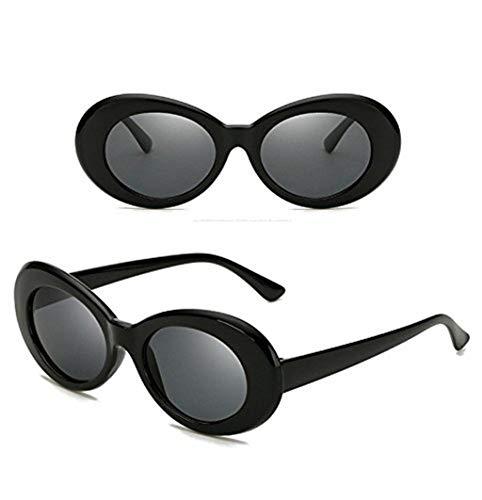 WooCo Schlagbrillen Billig, Heißer Verkauf Damen und Herren Retro Runde Linse Oval Mod Dicke Sonnenbrille Mode Vintage Outdoor Brillen(A,One size)