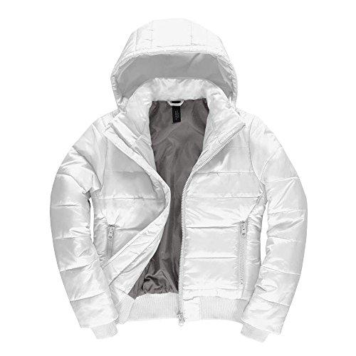 B&C - Damen Jacke 'Superhood' White/Warm Grey