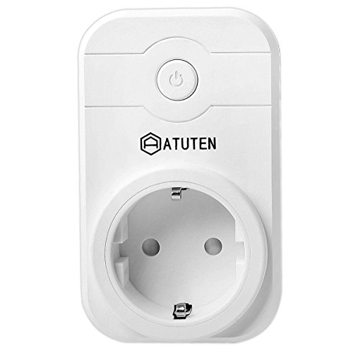 Atuten Enchufe Inteligente WiFi Enchufe con Control Remoto Inteligente Temporizador Socket con Puerto USB Compatibles con iOS y Android Control por teléfono Inteligente for Home Appliances