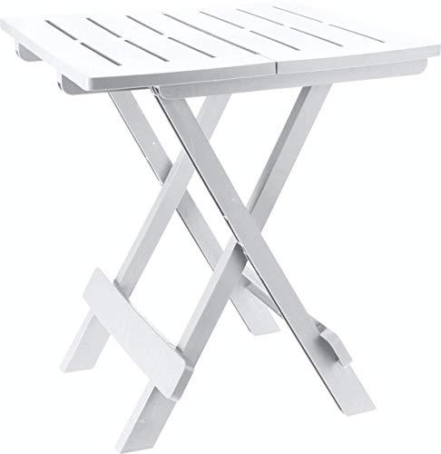Eminza - tavolo armando camping pvc 57 x44 cm bianco