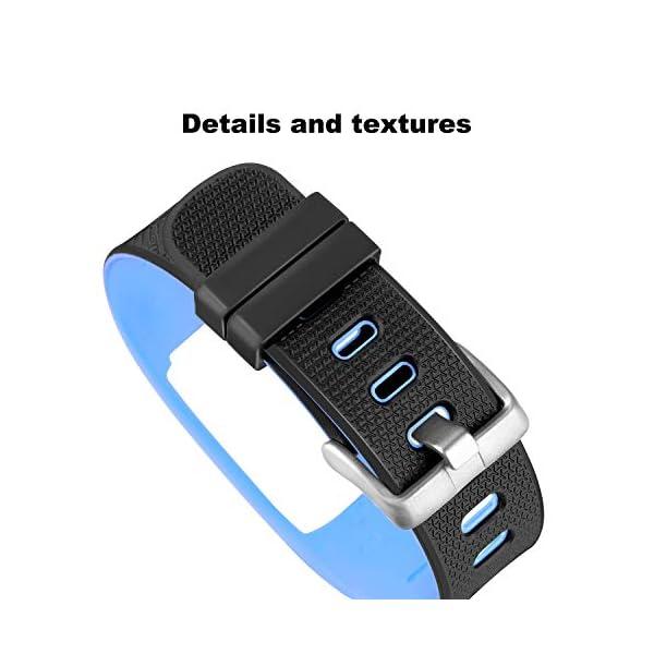 WADEO Impermeable Bluetooth Fitness Tracker Pulsera Reloj Pulsera Inteligente Banda de Repuesto Ajustable Sport… 5