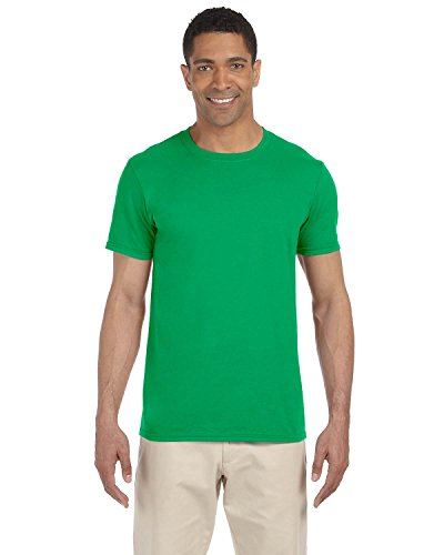 Gildan Mens Softstyle T-shirt 5-Pack Irish Green