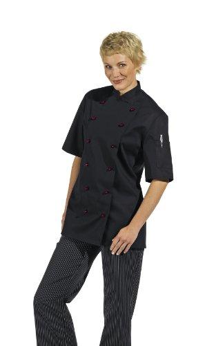 Giacca da cuoco 1/2Arm Nero - nero