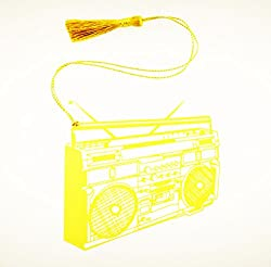 Retro Boombox Metal Bookmark