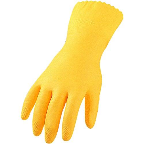 Baumwolle Gepolstert Kleidung (ASATEX Haushalts-Handschuh, Latex HSE, gelb, Gr. 9 (12 Paar))