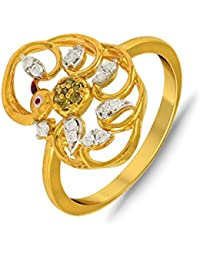 P.N.Gadgil Jewellers Lavanya Collection 22k (916) Yellow Gold Ring - B01MA3BEVV