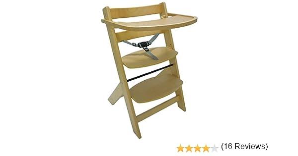 Seggiolone sediolone sgabello sedia in legno naturale altezza