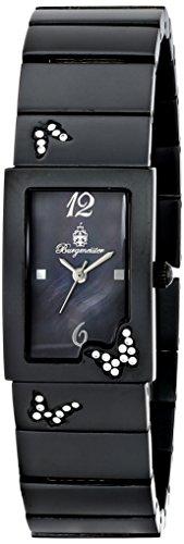 Burgmeister Perpignon, Reloj de cuarzo para mujer, con correa de otros materiales, Negro