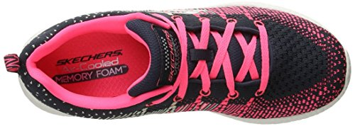 Skechers Girls Burst Ellipse Breathable Fabric Active Trainers Graphit/Pink