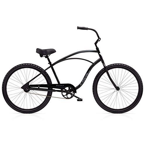 "Electra Cruiser 1 Tall Herren Fahrrad 26"" Schwarz Beach Cruiser Rad Retro Singlespeed, 513000"