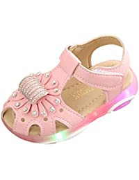 timeless design 443cc fea3b Baby Shoes~HOTSELL〔☀ㄥ☀〕Toddler Baby Flashing Shoes, Children Baby Girls  Crystal Flower Sandals Girl Floral Sandals Sneaker…
