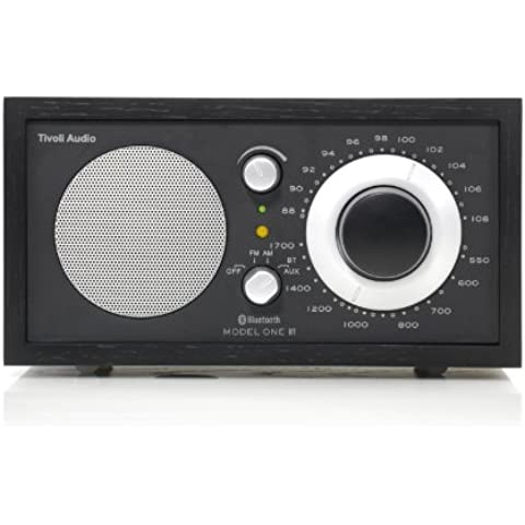 Tivoli M1BT-1384-EU Model One BT - Radio (AM, FM, Bluetooth), color negro y plateado (importado)