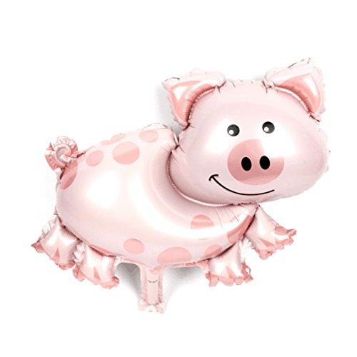 sourcingmap® 18 Zoll Jubiläum Feier Ornament Folie Schwein Form Inflation Helium Ballon DE de
